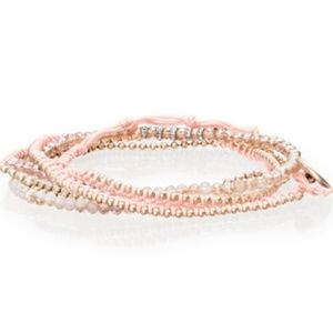 Jewelry - Delicate Bead + Chain Multi-Wrap Bracelet
